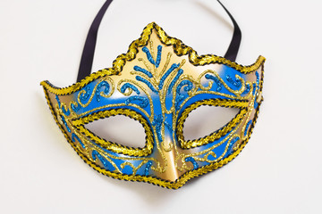 carnival mask isolated on a white background