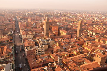 Aerial view on Bologna City
