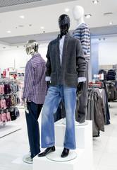 Shop interior with mannequins