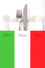 Italian Restaurant menu, place for text