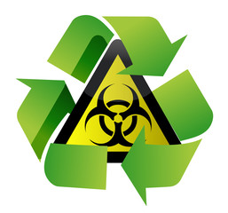 recycle biohazard sign illustration design