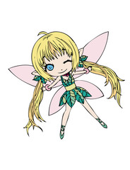 Single Fairy spreading her wings