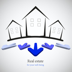 concept real estate for your business. Vector illustration