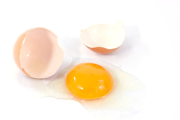 crash egg isolated on a white background