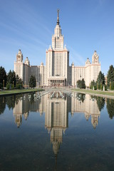 Lomonosov Moscow State University, main building.