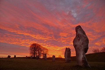 Photo sur Aluminium Artistique Avebury Stone Circle