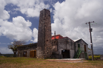 Old rum factory on the island of Marie Galante