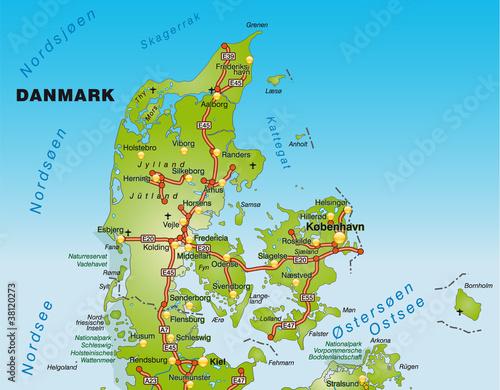 dänemark karte nordsee Landkarte von Dänemark