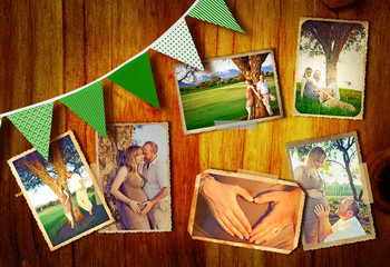 pregnant couple collage