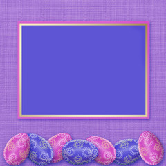 Easter Holiday. Stain eggs. Framework for a congratulation