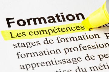 Formation, compétences, texte surligné
