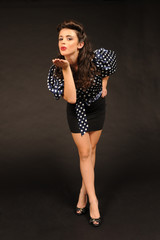 A pretty young pin up girl.
