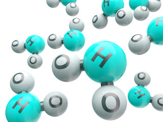 h20 isolated molecules