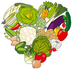 coeur légumes