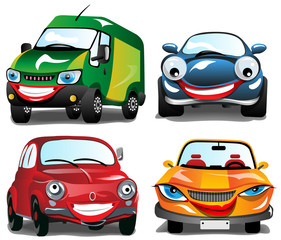 Smiling Colorfull Cars