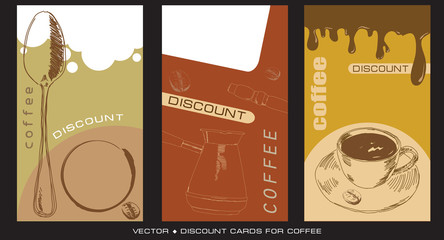 Discount cards for caffee