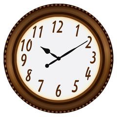 Clock in a circular frame