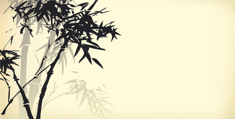 Vector background of bamboo branches
