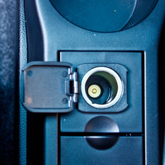 12 V power outlet socket in car