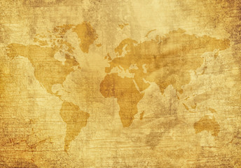 Photo sur Toile Carte du monde Old World Map
