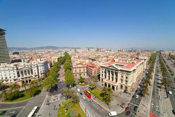 Wide angle shot of  Barcelona