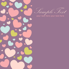 Valentine congratulation card with hearts