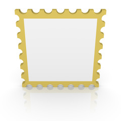 Blank 3d postage stamp