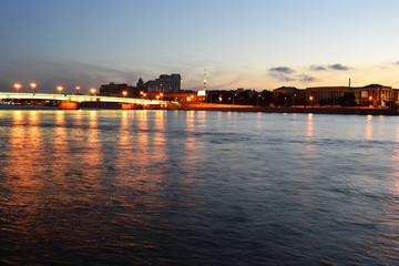 Liteyny bridge at night