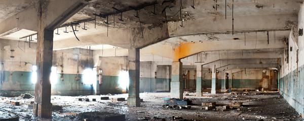 Autocollant pour porte Les vieux bâtiments abandonnés factory