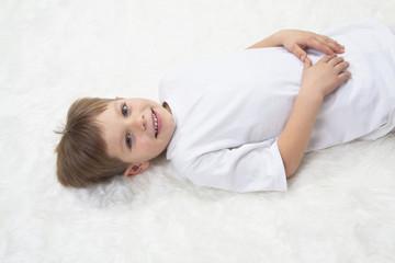 Children's yoga. Yoga before bedtime
