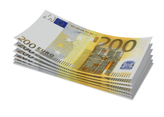 Stack of 200€ bills