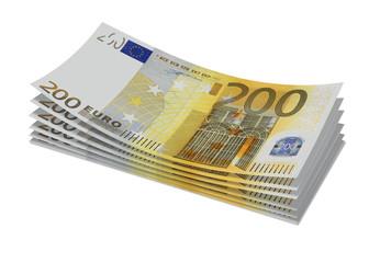 Stack of 200€ bills