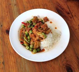 Thai food, prikkaeng moo