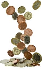 uk coins falling