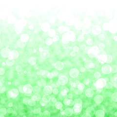 Bokeh Vibrant Green Background With Blurry Lights