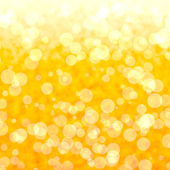 Bokeh Vibrant Yellow Background With Blurry Lights