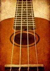 grunge image of ukulele