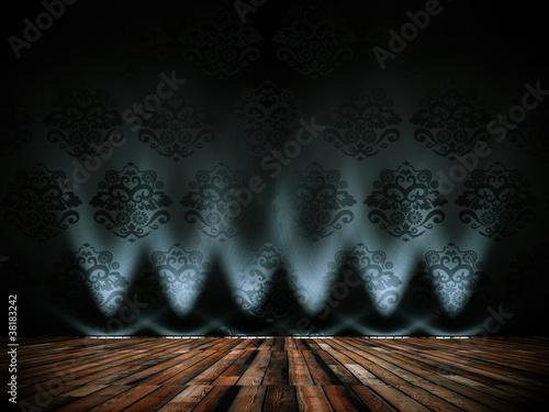 Wohndesign dekowand muster schwarz mit lampen for Wohndesign 2012