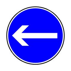 Papier Peint - Verkehrsschild - 209 vorgeschriebene Fahrtrichtung hier links
