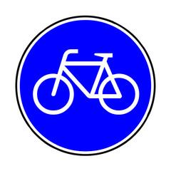 Papier Peint - Verkehrsschild - 237 Sonderweg Radfahrer