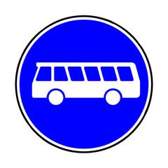 Papier Peint - Verkehrsschild - 245 Linienomnibusse
