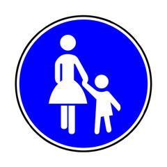 Papier Peint - Verkehrsschild - 239 Sonderweg Fußgänger