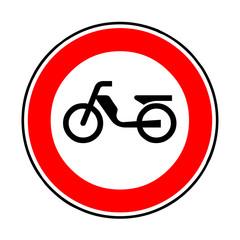 Wall Mural - Verkehrsschild - 256 Verbot für Mofas