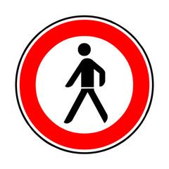 Papier Peint - Verkehrsschild - 259 Verbot für Fußgänger
