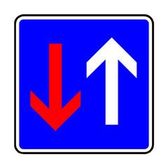 Papier Peint - Verkehrsschild - 308 Vorrang vor dem Gegenverkehr