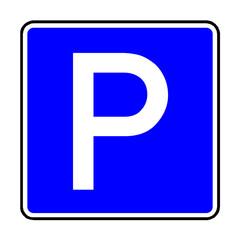 Papier Peint - Verkehrsschild - 314 Parkplatz