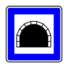 Papier Peint - Verkehrsschild - 327 Tunnel