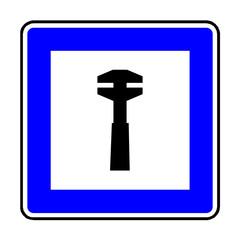 Papier Peint - Verkehrsschild - 359 Pannenhilfe