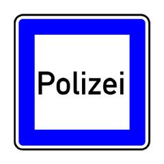Papier Peint - Verkehrsschild - 363 Polizei