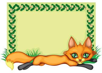 Frame with a fox